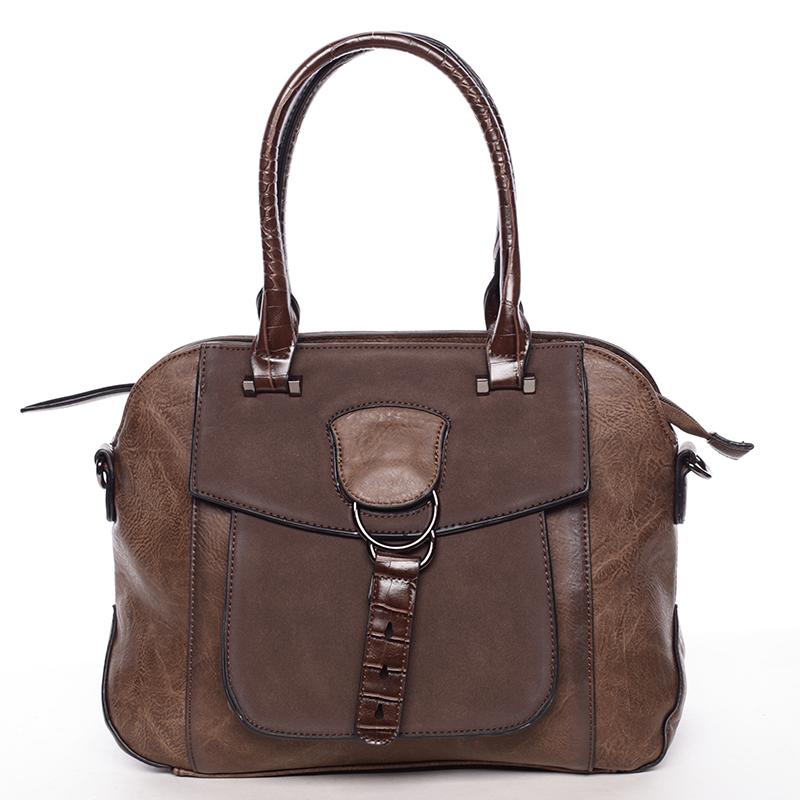 Elegantní kávově hnědá dámská kabelka do ruky - Maria C Europa