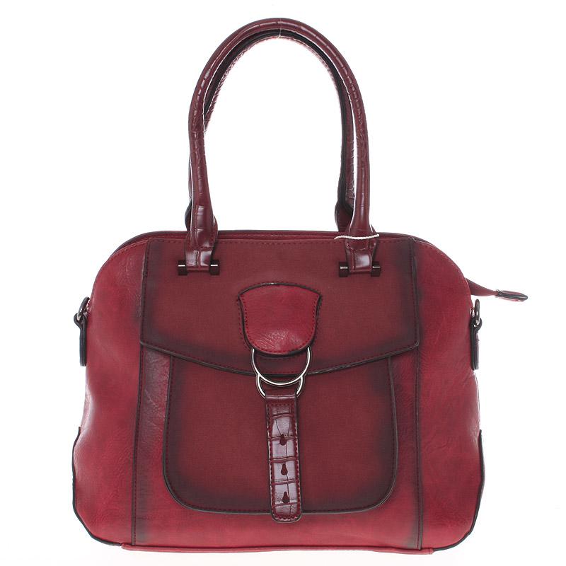 Elegantní červená dámská kabelka do ruky - Maria C Europa