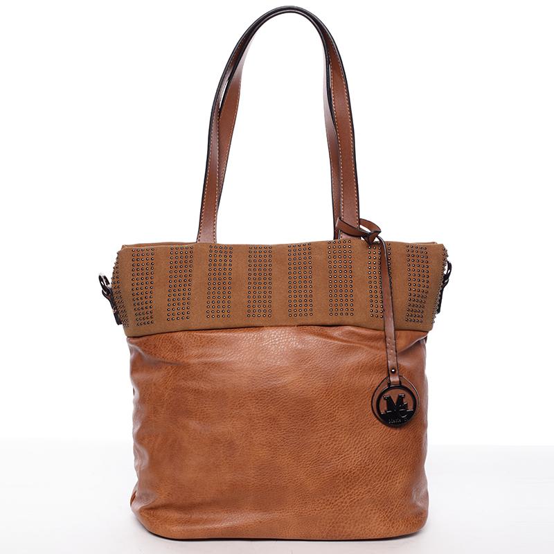 Dámská stylová kabelka přes rameno hnědá - Maria C Erytheia
