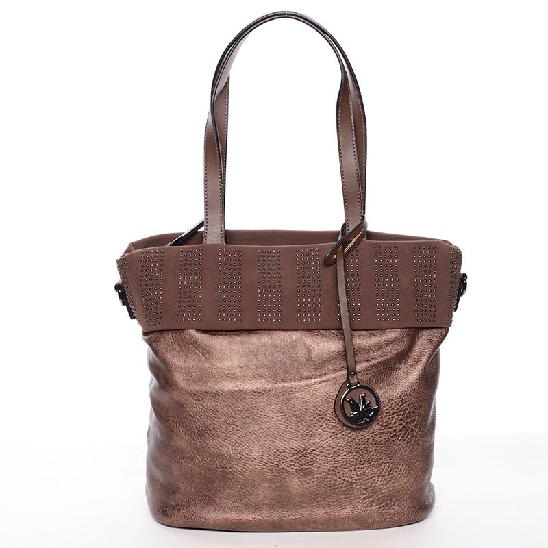 Dámská stylová kabelka přes rameno bronzová - Maria C Erytheia