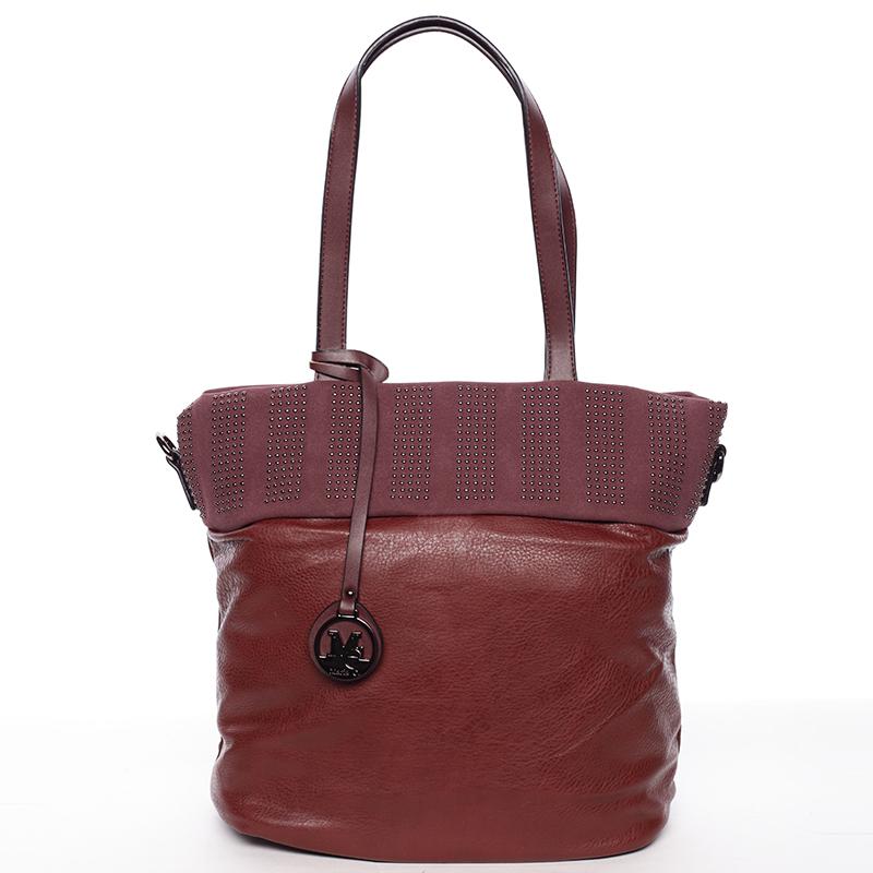 Dámská stylová kabelka přes rameno vínová - Maria C Erytheia