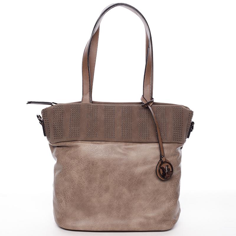 Dámská stylová kabelka přes rameno taupe - Maria C Erytheia