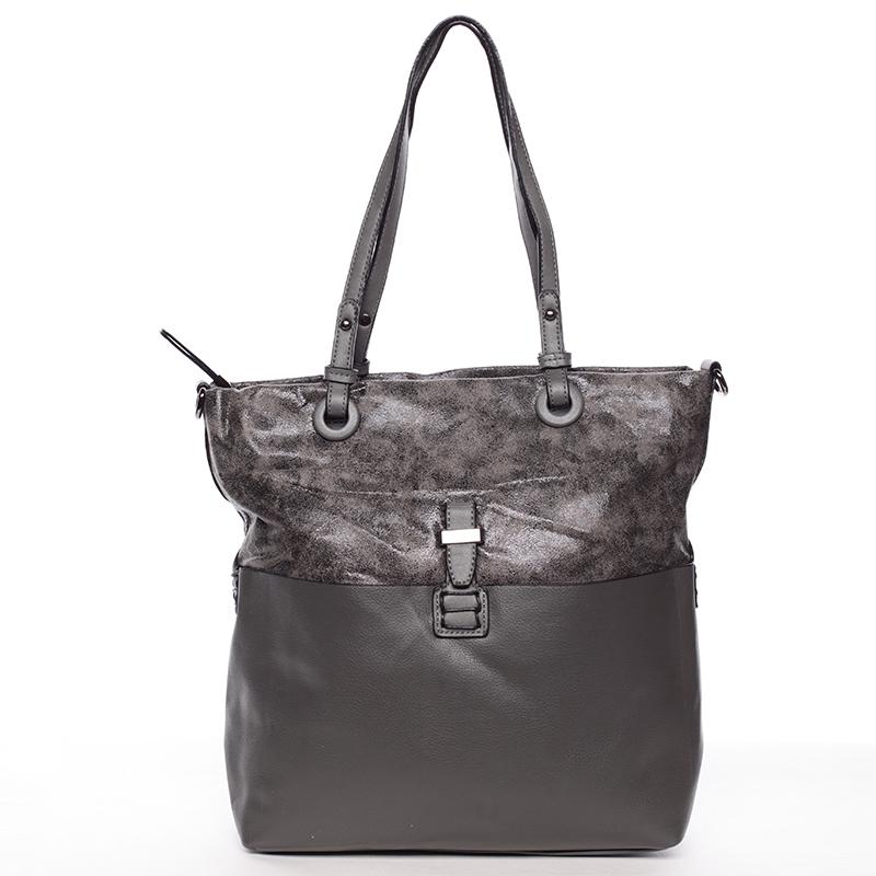 Trendy dámská kabelka přes rameno šedá - MARIA C Kalish