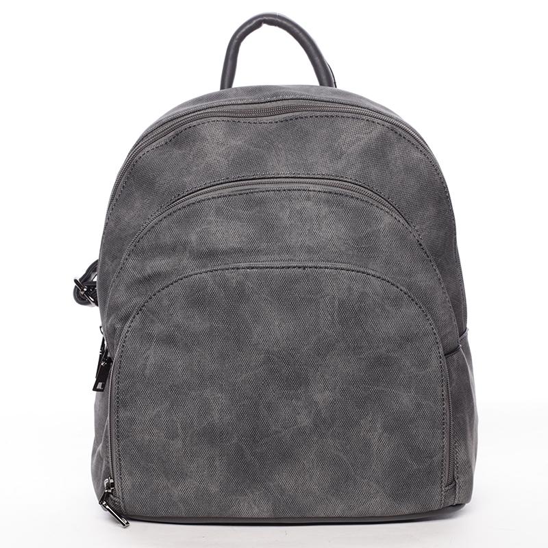 Pohodlný dámský tmavě šedý batoh - MARIA C Fate