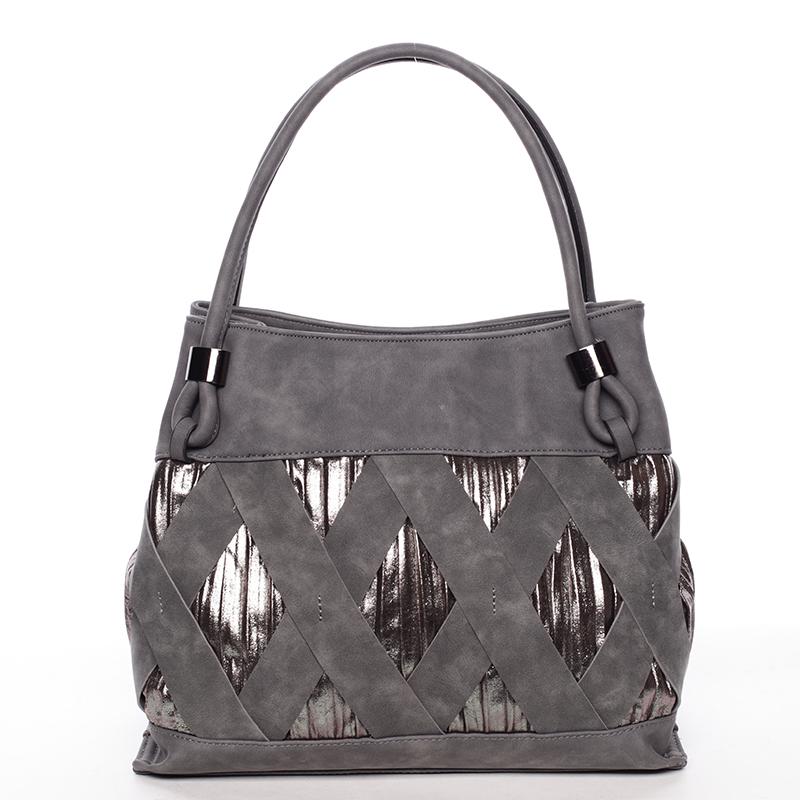 Jedinečná šedá dámská kabelka - MARIA C Elani