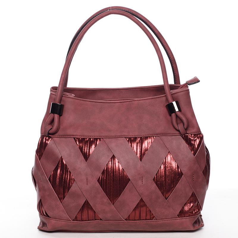 Jedinečná tmavě červená dámská kabelka - MARIA C Elani