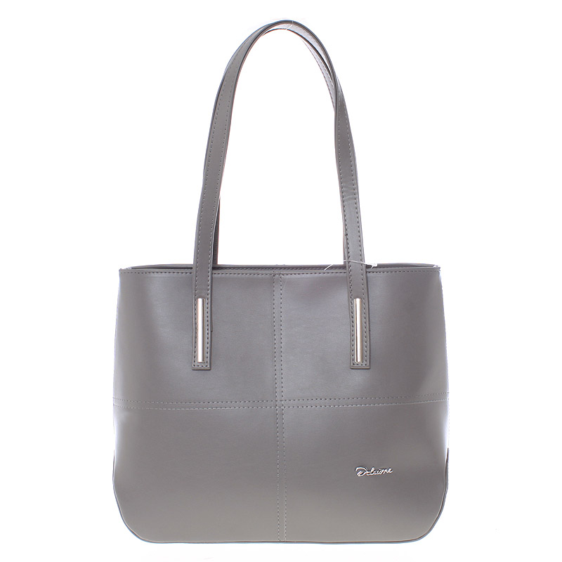 Dámská luxusní kabelka přes rameno šedá - Delami Leonela