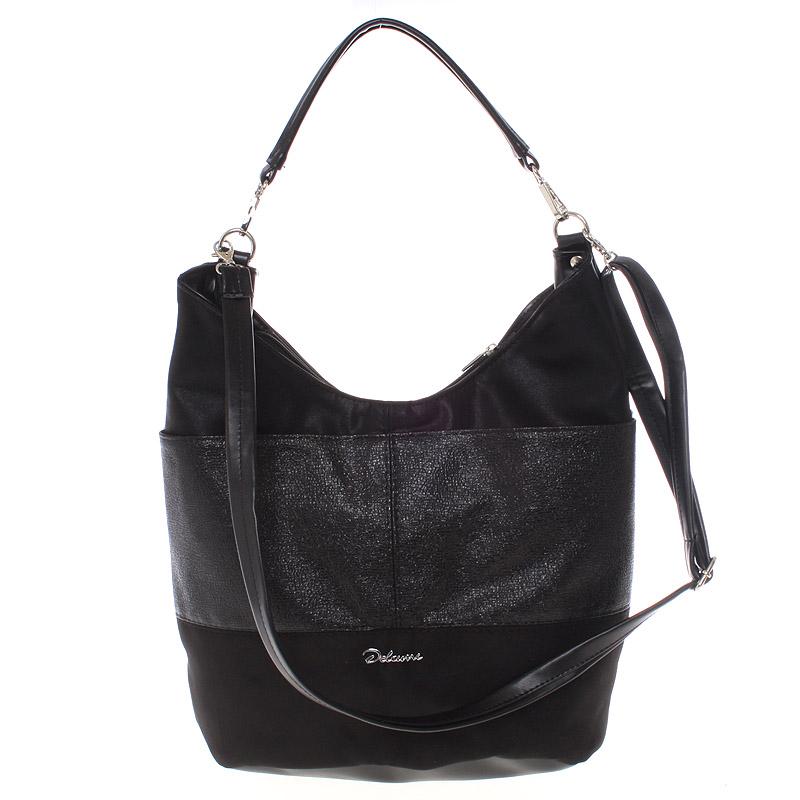 Elegantní černá dámská kabelka přes rameno - Delami Shakira