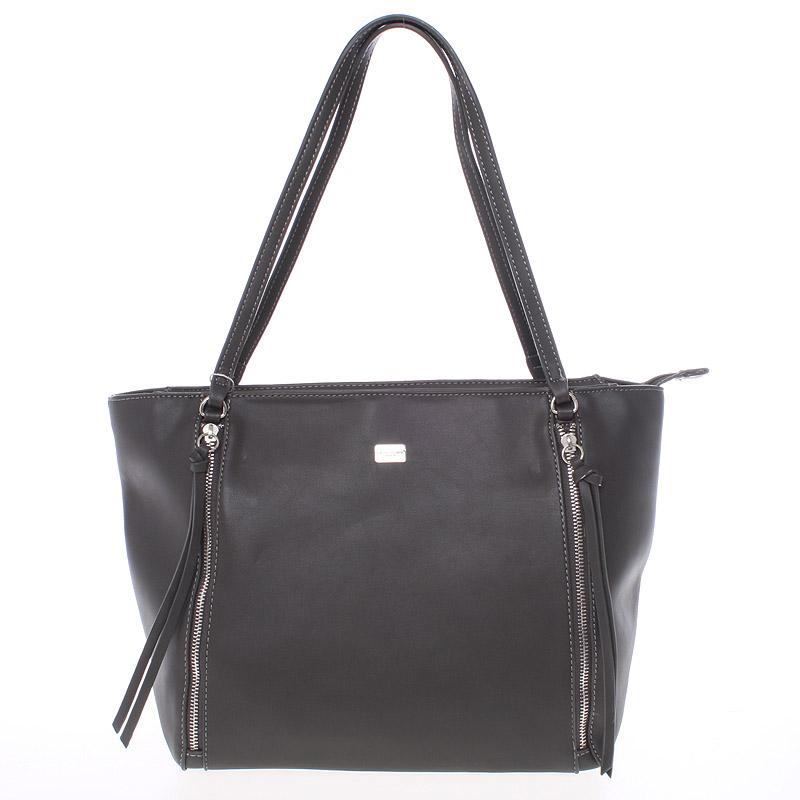 Elegantní tmavě šedá kabelka přes rameno - David Jones Paola