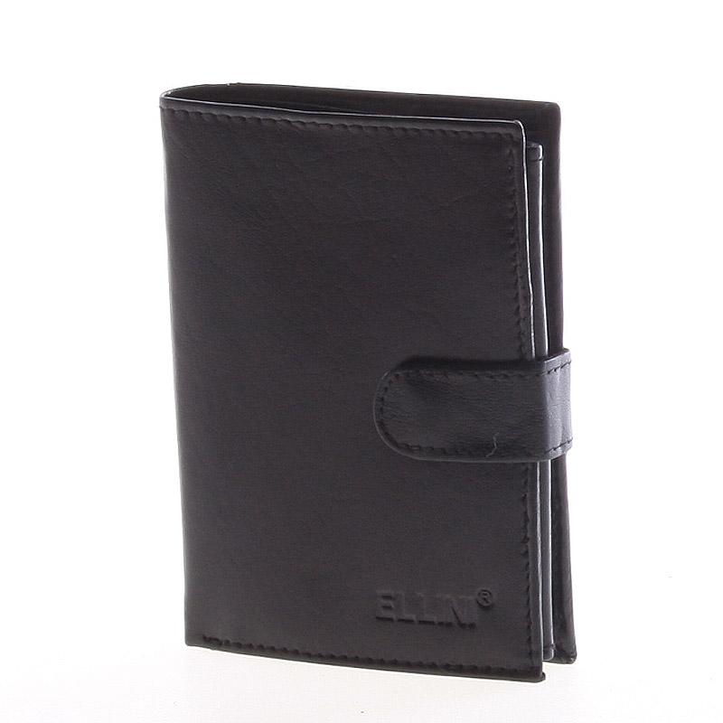 Bezpečná pánská kožená peněženka černá - Ellini Jorgan