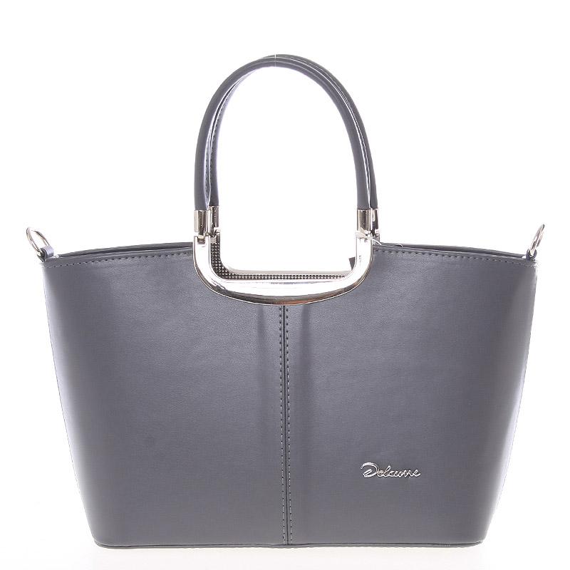 Elegantní střední šedá dámská kabelka do společnosti - Delami Sabrina