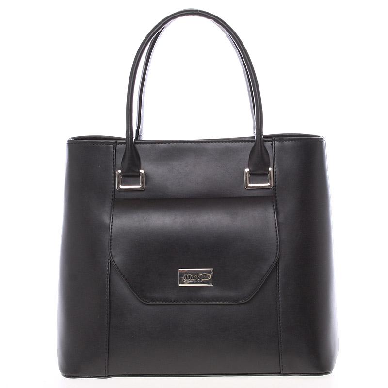 Dámská luxusní kabelka černá matná - Maggio Evony