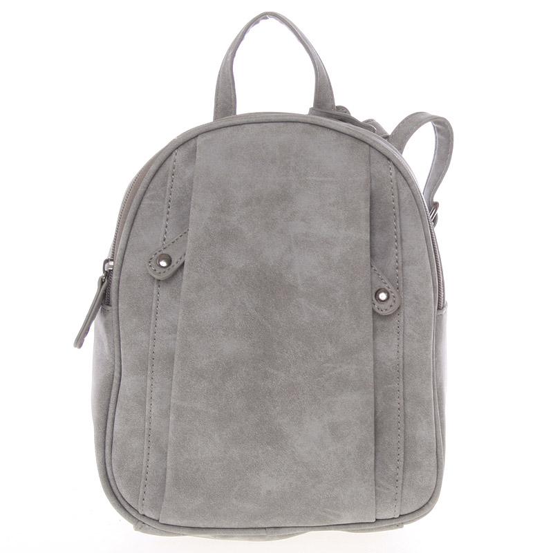 Dámský módní batůžek šedý - A Just Dreamz