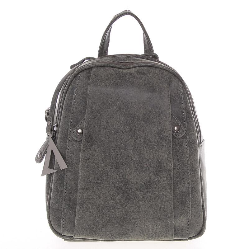 Dámský módní batůžek tmavě šedý - A Just Dreamz
