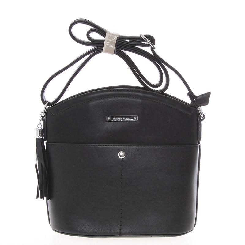 Luxusní menší černá crossbody kabelka - Silvia Rosa Kalika