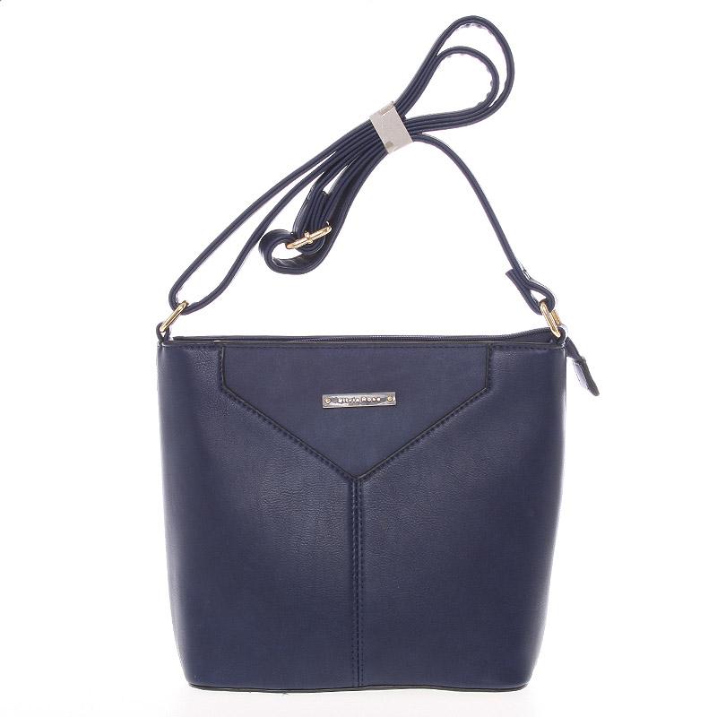 Moderní a elegantní tmavě modrá crossbody kabelka - Silvia Rosa Kairos