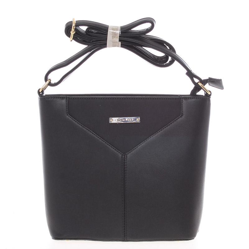 Moderní a elegantní černá crossbody kabelka - Silvia Rosa Kairos