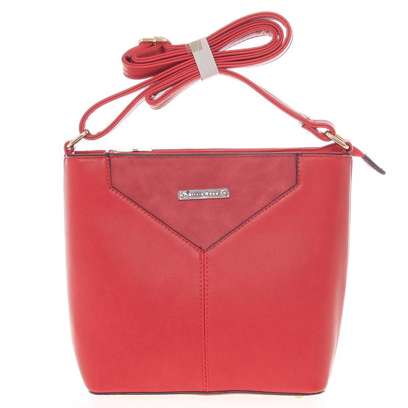 Moderní a elegantní červená crossbody kabelka - Silvia Rosa Kairos