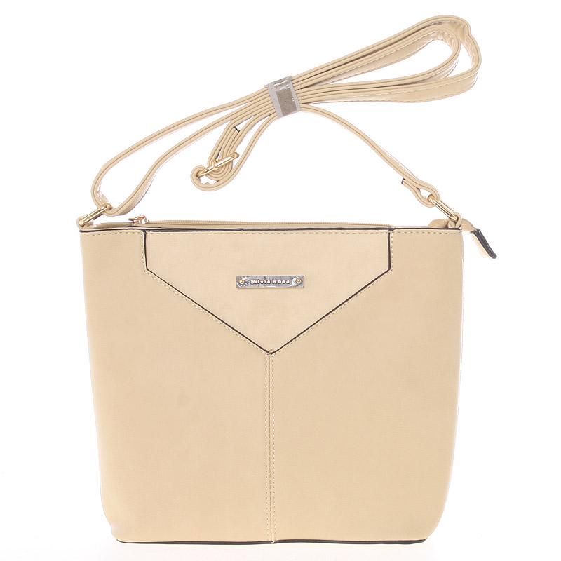 Moderní a elegantní světlá khaki crossbody kabelka - Silvia Rosa Kairos