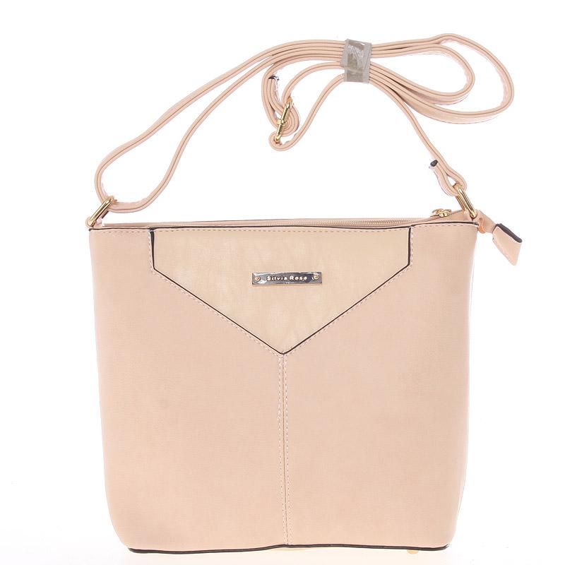 Moderní a elegantní růžová crossbody kabelka - Silvia Rosa Kairos