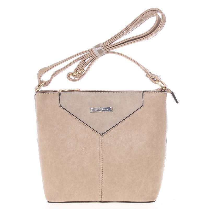 Moderní a elegantní písková crossbody kabelka - Silvia Rosa Kairos