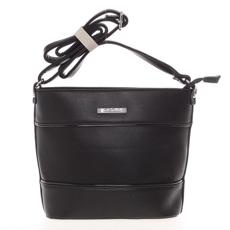 Módní a elegantní crossbody kabelka černá - Silvia Rosa Jenesis