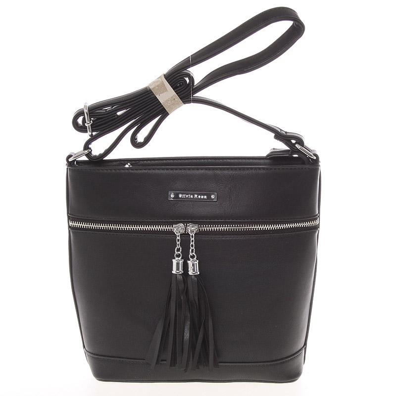 Módní crossbody kabelka černá - Silvia Rosa Jenoa