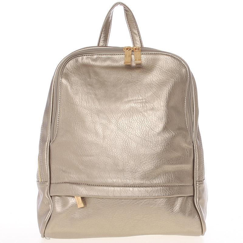 Dámský originální větší batoh zlatý - Silvia Rosa Karsten