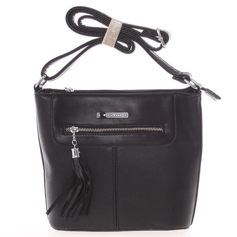 Moderní crossbody kabelka černá - Silvia Rosa Kaira