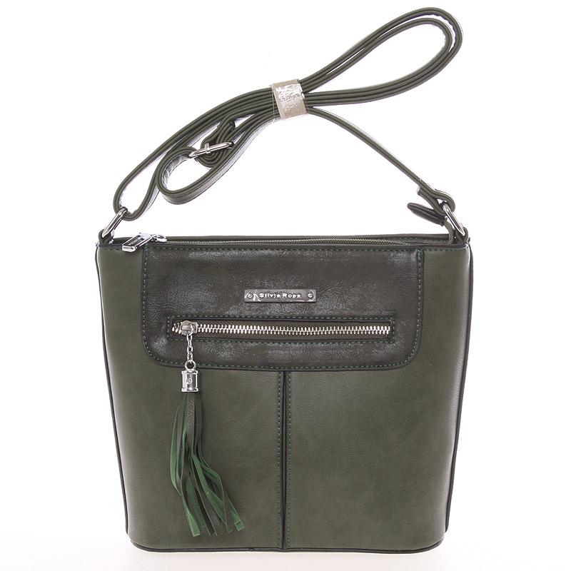 Moderní crossbody kabelka zelená - Silvia Rosa Kaira