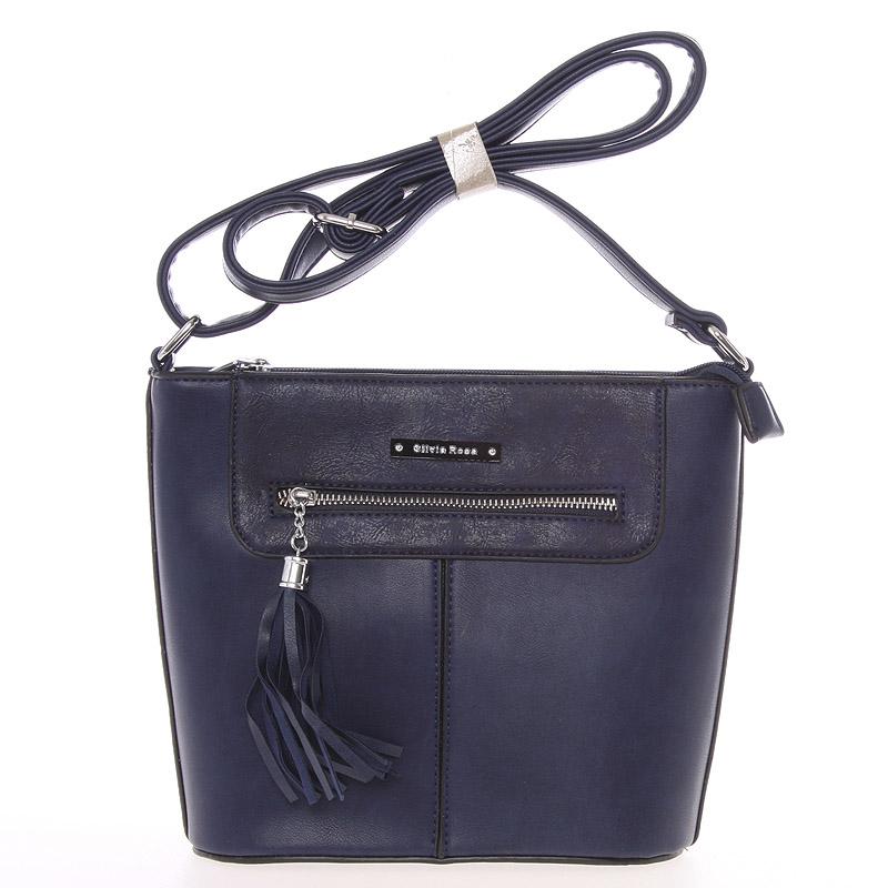 Moderní crossbody kabelka tmavě modrá- Silvia Rosa Kaira