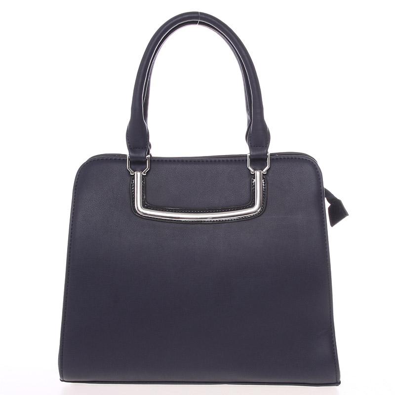 Luxusní tmavě modrá dámská kabelka do ruky - Silvia Rosa Jiannis