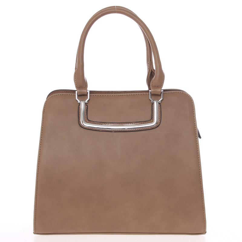 Luxusní khaki dámská kabelka do ruky - Silvia Rosa Jiannis