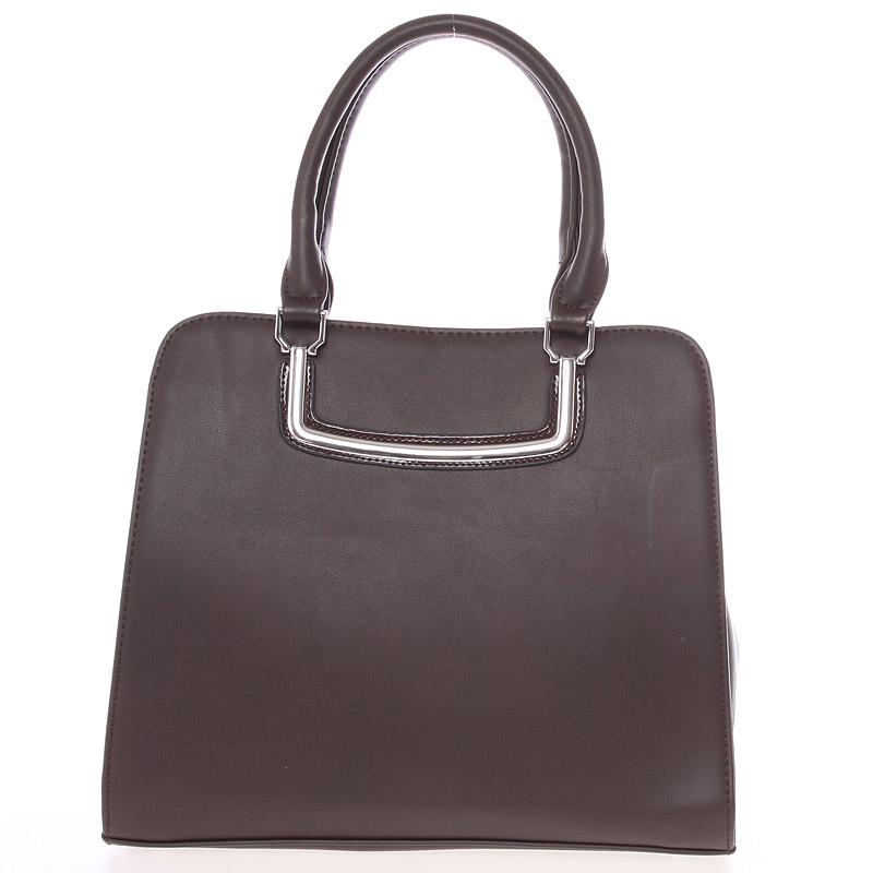 Luxusní kávově hnědá dámská kabelka do ruky - Silvia Rosa Jiannis