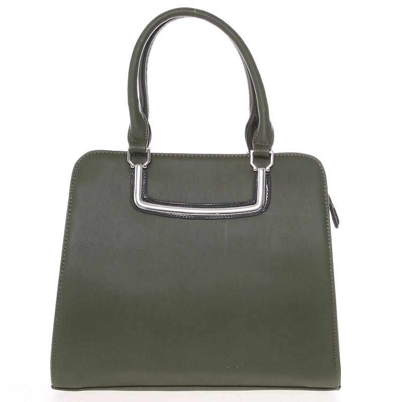 Luxusní zelená dámská kabelka do ruky - Silvia Rosa Jiannis