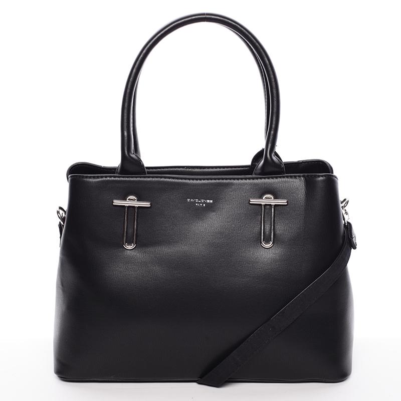 Jedinečná černá kabelka do ruky - David Jones Destiny