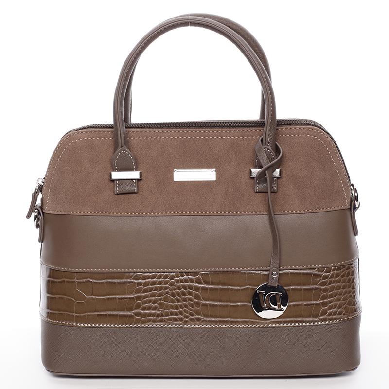 Exkluzivní taupe kabelka do ruky - David Jones Kelsey