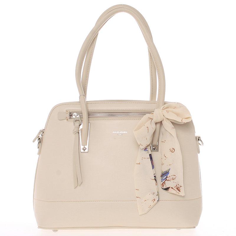Elegantní trendy tmavě béžová kabelka do ruky - David Jones Felicity