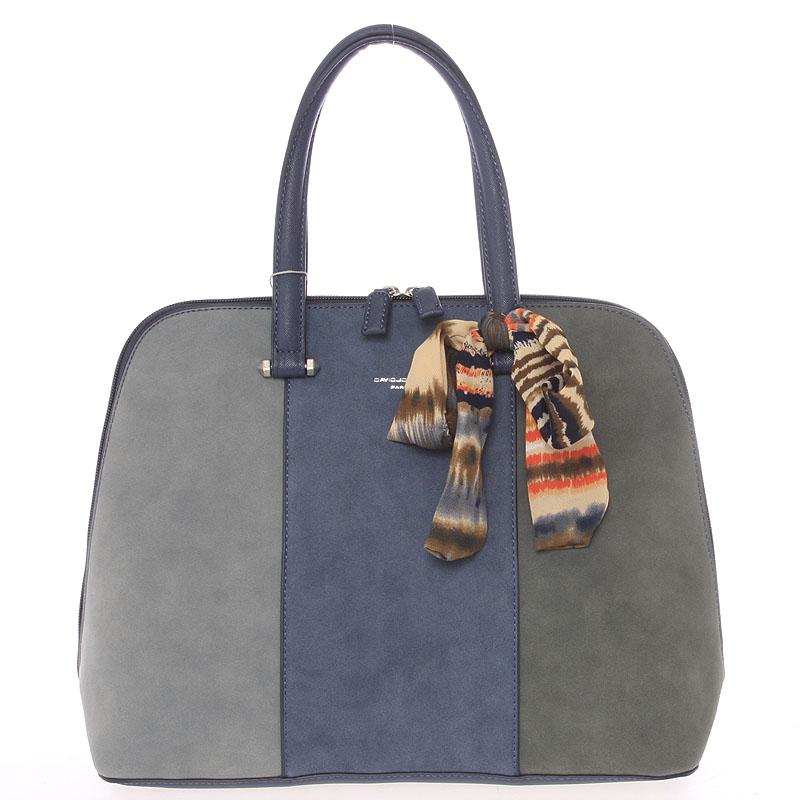 Trendy měkká modrá kabelka do ruky - David Jones Josie