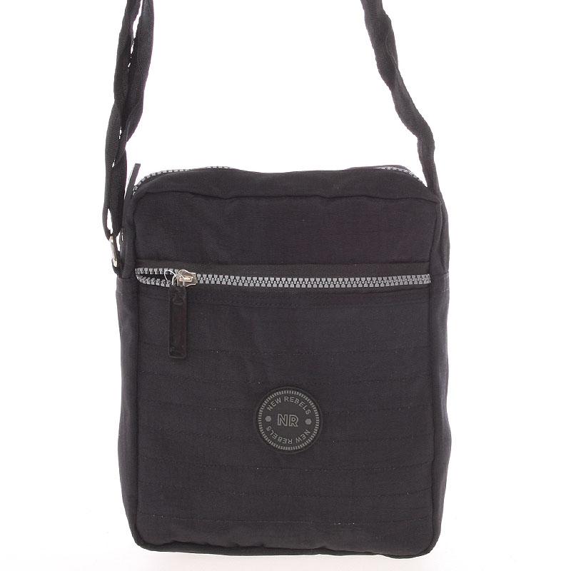 Menší sportovní taška na doklady černá - New Rebels Callum