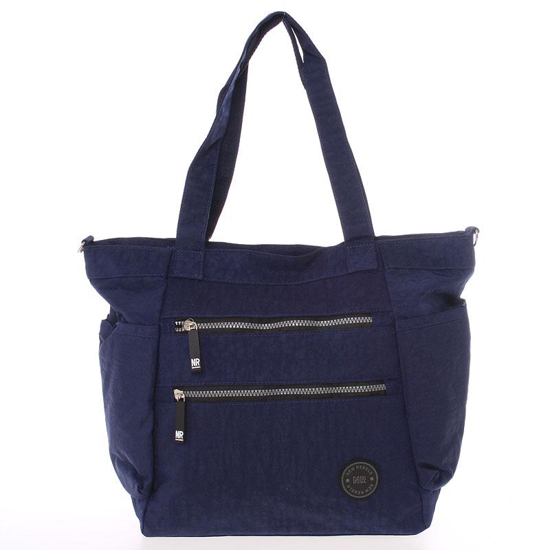 Moderní látková sportovní modrá taška - New Rebels Brielle