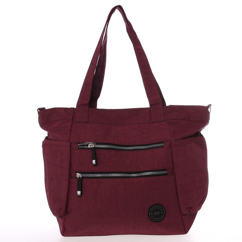 Moderní látková sportovní červená taška - New Rebels Brielle