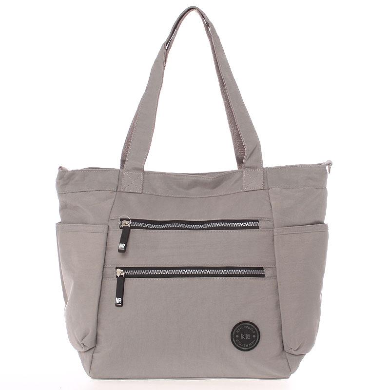 Moderní látková sportovní šedá taška - New Rebels Brielle
