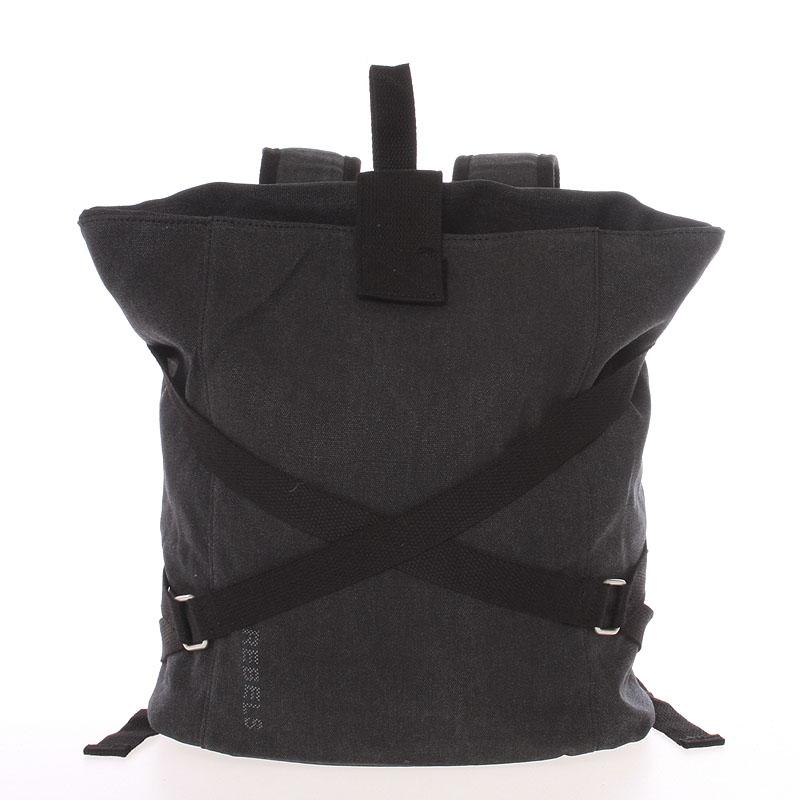 Unisex moderní látkový černý batoh - New Rebels Kinley
