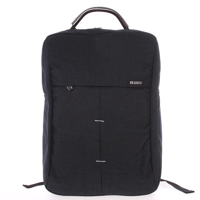 Jedinečný moderní černý batoh - Enrico Benetti Achelous