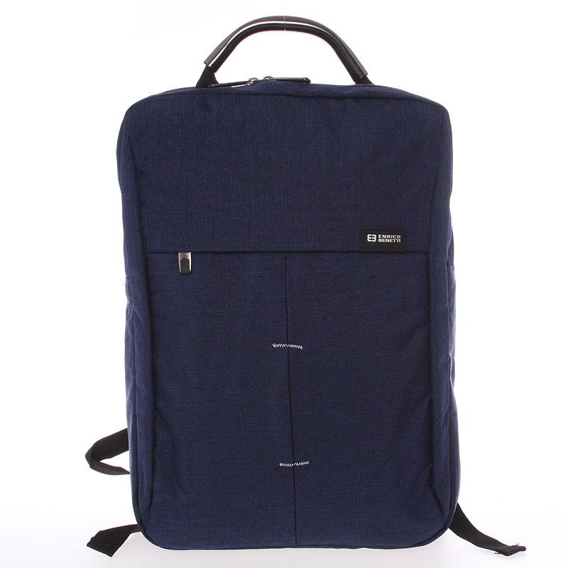 Jedinečný moderní modrý batoh - Enrico Benetti Achelous