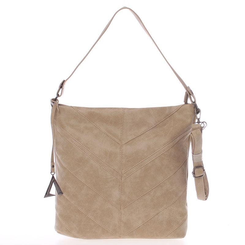 Středně velká dámská kabelka taupe - Just Dreamz Lilika