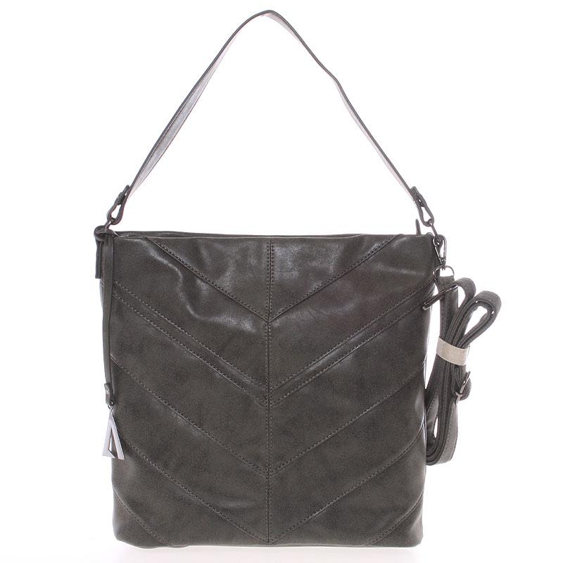 Středně velká dámská kabelka tmavě šedá - Just Dreamz Lilika