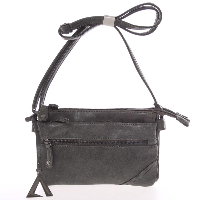 Dámská módní crossbody kabelka tmavě šedá - Just Dreamz Ligia