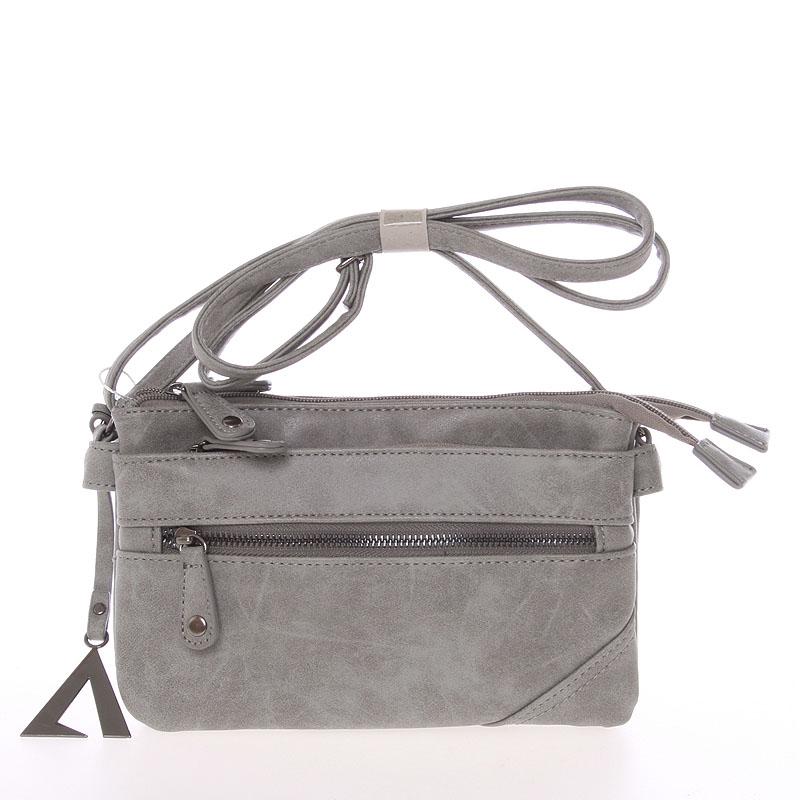 Dámská módní crossbody kabelka šedá - Just Dreamz Ligia